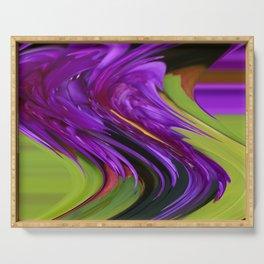 Violet Swirl Serving Tray