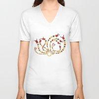 hydra V-neck T-shirts featuring LERNAEAN HYDRA by Villie Karabatzia