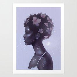 Moonlight lady Art Print
