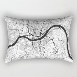 Cincinnati Map Gray Rectangular Pillow