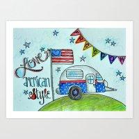 Love, American Style - Pencil Drawing Art Print