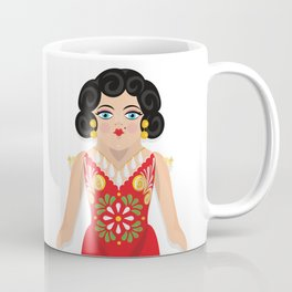 Mexican Paper Doll Coffee Mug