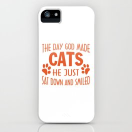 GOD MADE CATS iPhone Case