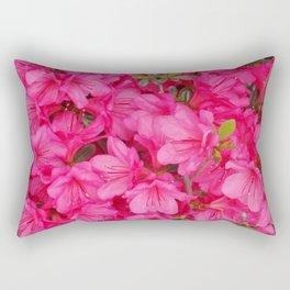 Pink Azalea Blooms Rectangular Pillow