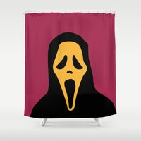 scream Shower Curtains featuring Scream by FilmsQuiz
