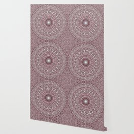 Light Pink Floral Mandala Wallpaper