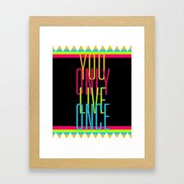 Cascading Neon YOLO Framed Art Print