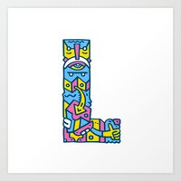 L for Leather Art Print