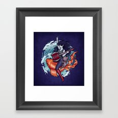 Daddy's Little Monster Framed Art Print