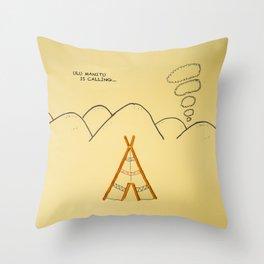 pretzel tent Throw Pillow