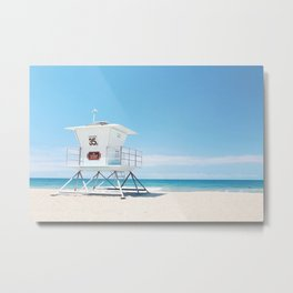 Lifeguard tower Carlsbad 35 Metal Print