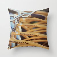 industrial Throw Pillows featuring Industrial by Alicia Bock