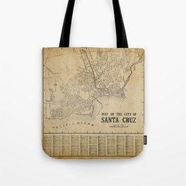 Santa Cruz Vintage Map Tote Bag
