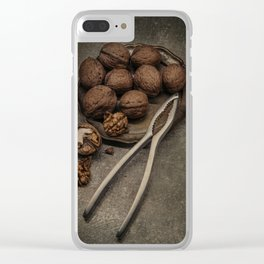 Still life with walnuts Clear iPhone Case