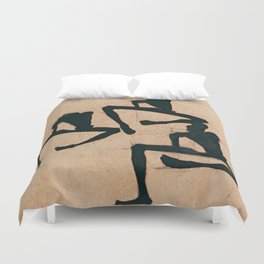 """Egon Schiele """"Composition with Three Male Nudes"""" Duvet Cover"""