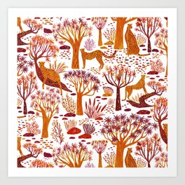 Desert Cheetah Art Print