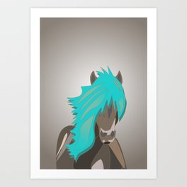 The Horse with the Turquoise Mane Art Print