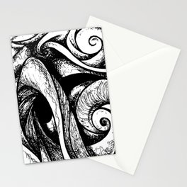 Swirl (black and white) Stationery Cards