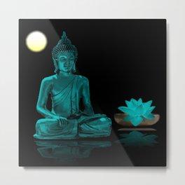 Buddha Yoga Style Metal Print