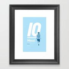 Messi Argentina 10 Framed Art Print