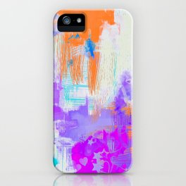 Abstract Painting with Stencil iPhone Case