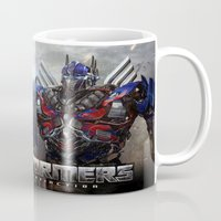 transformers Mugs featuring transformers  , transformers  games, transformers  blanket, transformers  duvet cover by ira gora