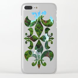 Bacterium Hedgerow Clear iPhone Case