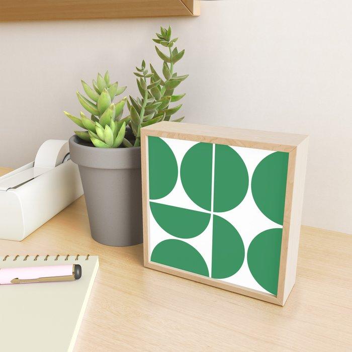 Mid Century Modern Green Square Framed Mini Art Print