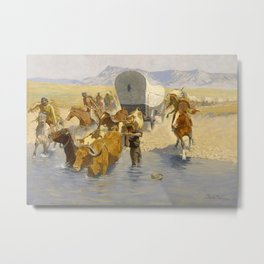 "Frederic Remington Western Art ""The Emigrants"" Metal Print"