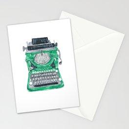 Green Typewriter Stationery Cards