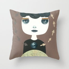 El círculo estelar Throw Pillow