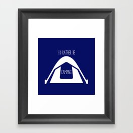 Tent Camping Framed Art Print