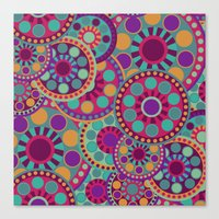 circles Canvas Prints featuring CIRCLES by Nika