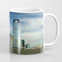 new jersey Mugs featuring New Jersey by Raymond Earley