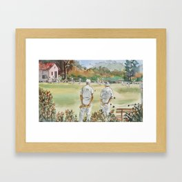 Lawn Bowlers Framed Art Print