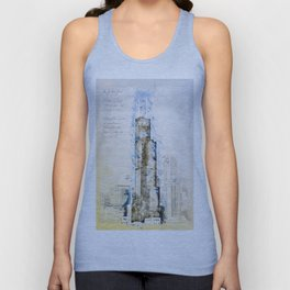 SearsTower, Chicago USA Unisex Tank Top
