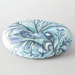 Tree of Life (blues) Floor Pillow