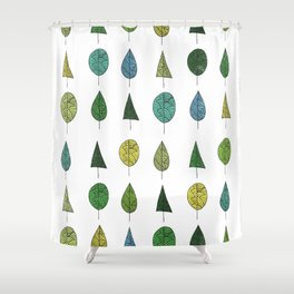 TREES MAKE A FOREST Shower Curtain