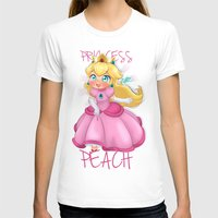 princess peach T-shirts featuring Princess Peach by Chimi-uzz
