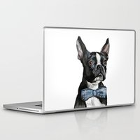 terrier Laptop & iPad Skins featuring Boston Terrier by Orestis Lazos