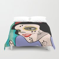 snow white Duvet Covers featuring Snow White  by mark ashkenazi