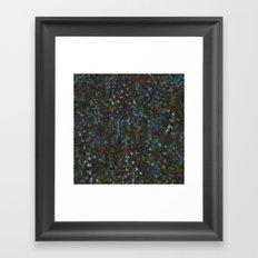 green fleur Framed Art Print