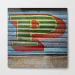 urban street art typography graffiti style lettering Metal Print