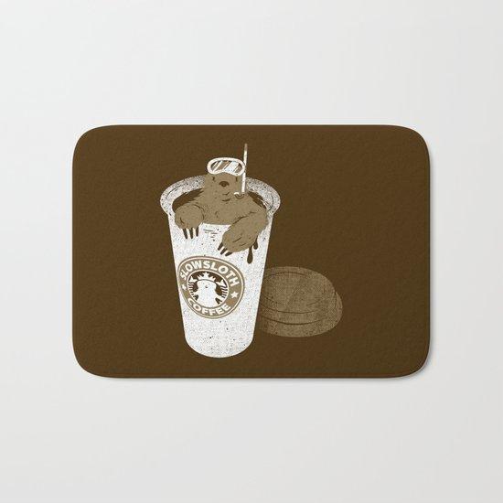 SlowSloth Coffee Dive Bath Mat