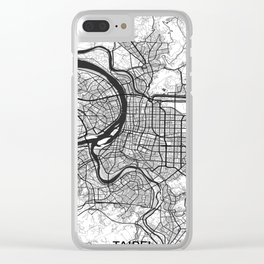 Taipei Map Gray Clear iPhone Case