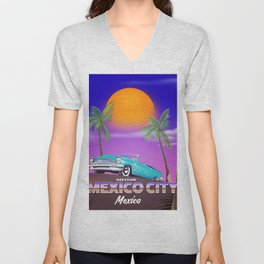 "Mexico City - ""Mexican nights"" version Unisex V-Neck"