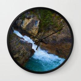 Beauty Creek & Stanley Waterfalls in Jasper National Park, Canada Wall Clock