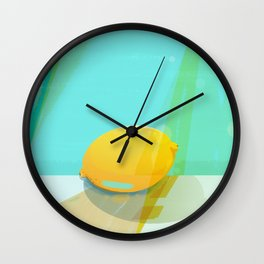 Colorful Lemon Wall Clock
