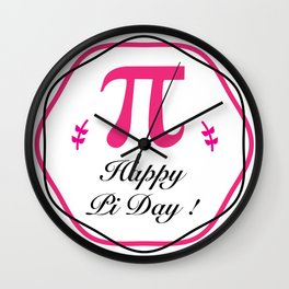 Happy Pi Day Cute Math Major Teacher Wall Clock