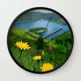 Fogo crater Wall Clock